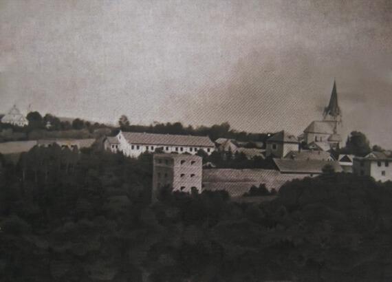 Золотий Потік, замок і костел