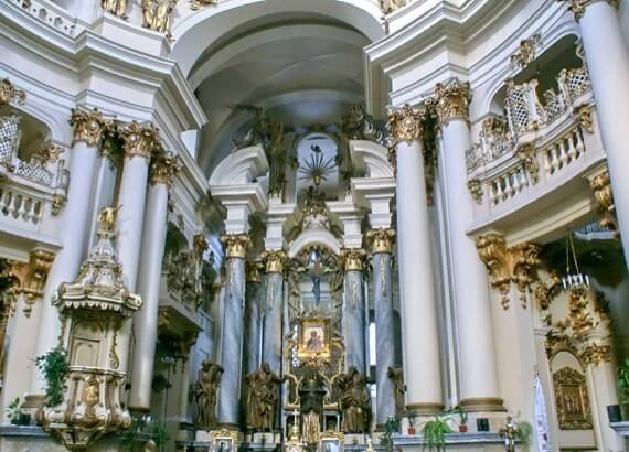 Львів. Домініканський собор (актуальний стан)