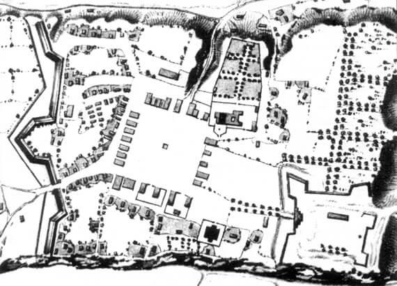 Маріямпіль, історичний план середмістя (ХІХ ст.)