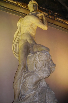 Michelangelo - The Genius of Victory (marble) Palazzo Vecchio, Florence.