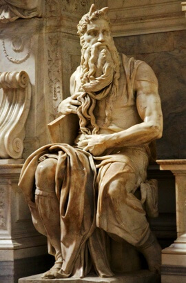 Michelangelo - Moses (marble) San Pietro in Vincoli, Rome.