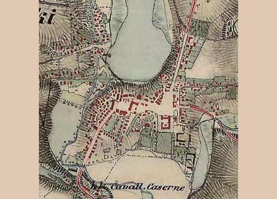 Монастириська, історичний план середмістя (ХІХ ст.)