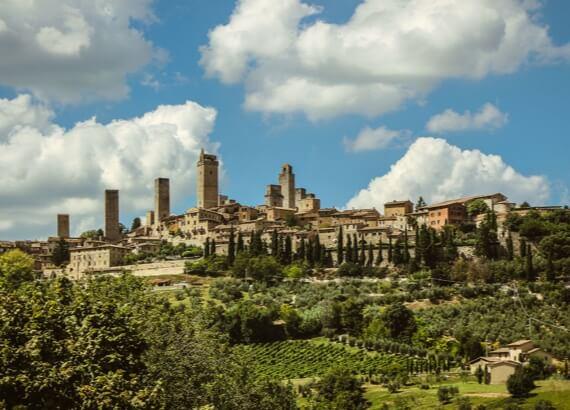 Тоскана. Панорама міста Сан-Гіміньяно.