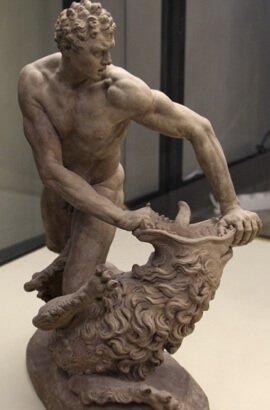 Стефано Мадерна, Геркулес та Немейський лев (теракота)